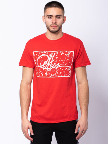 Young and Reckless Mens - Tees - Graphic Tee Signature Splatter Tee - Red