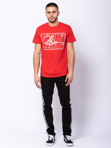 Signature Splatter Tee - Red