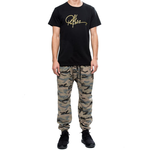 Signature Tee- Black/Gold