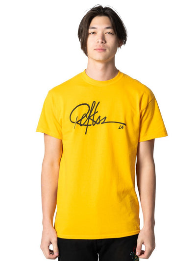 Young and Reckless Mens - Tees - Graphic Tee Signature Tee - Gold