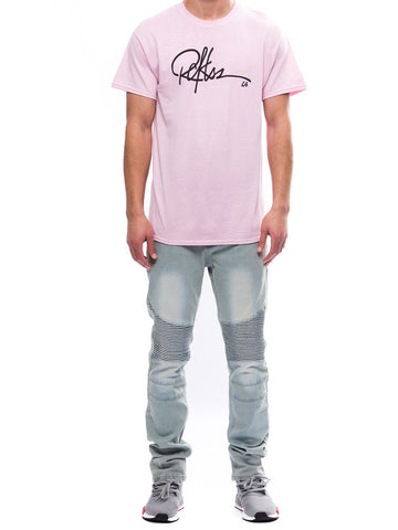 Young and Reckless Mens - Tees - Graphic Tee Signature Tee- Pink