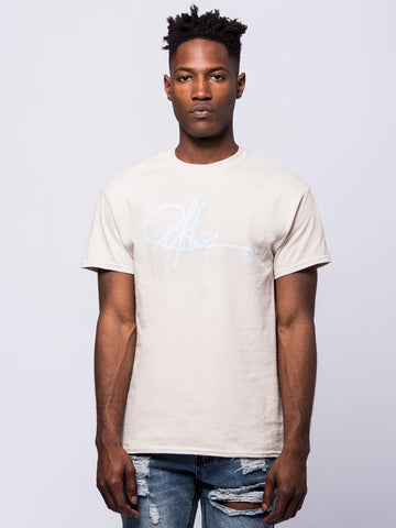 Young and Reckless Mens - Tees - Graphic Tee Signature Tee - Sand