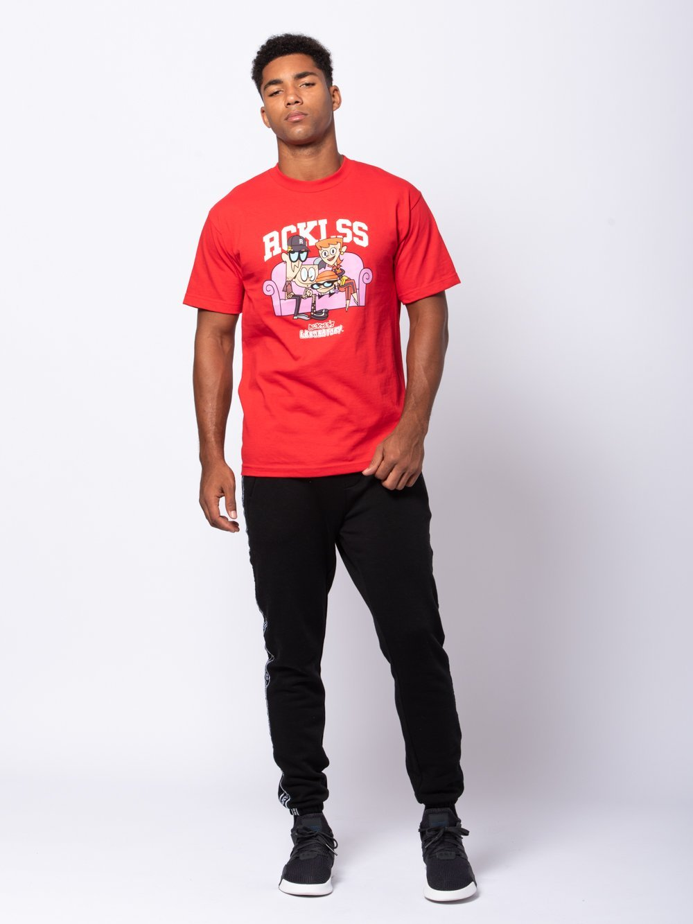 Young and Reckless Mens - Tees - Graphic Tee Sitcom Tee - Red