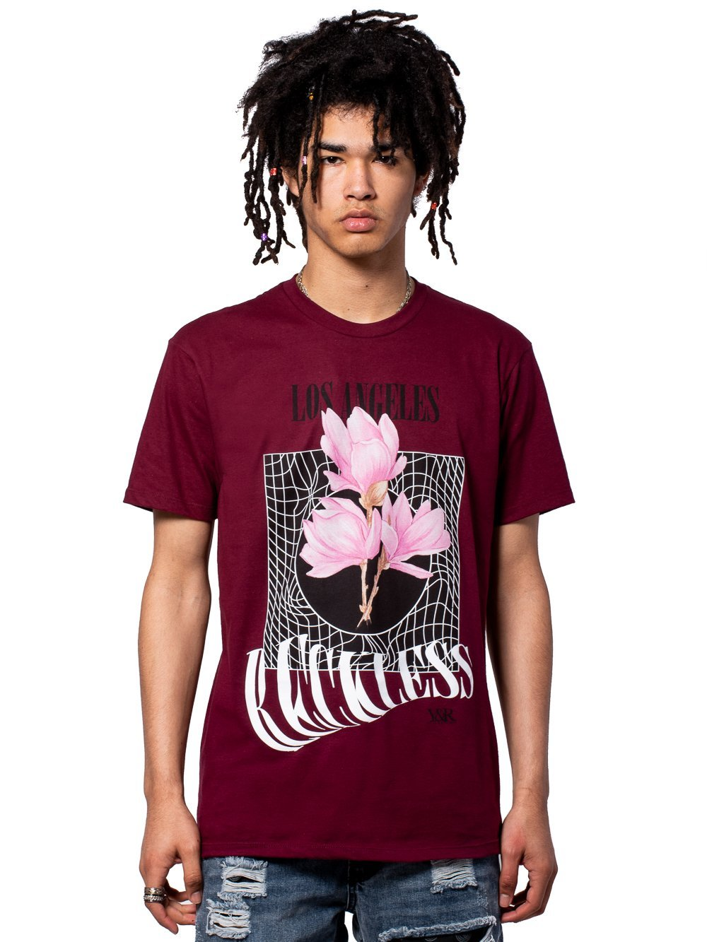 Young and Reckless Mens - Tees - Graphic Tee Skynet Tee - Burgundy