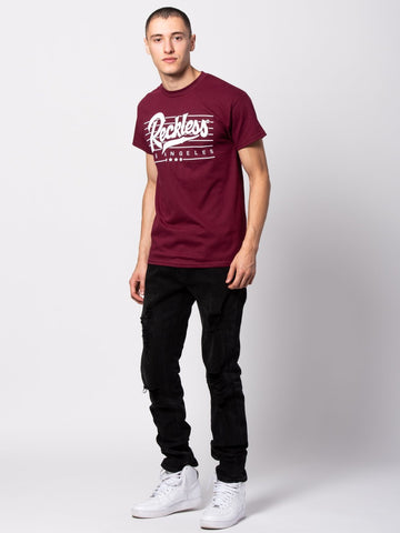 Speed Lines Tee - Maroon