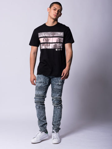 Split View Tee- Black