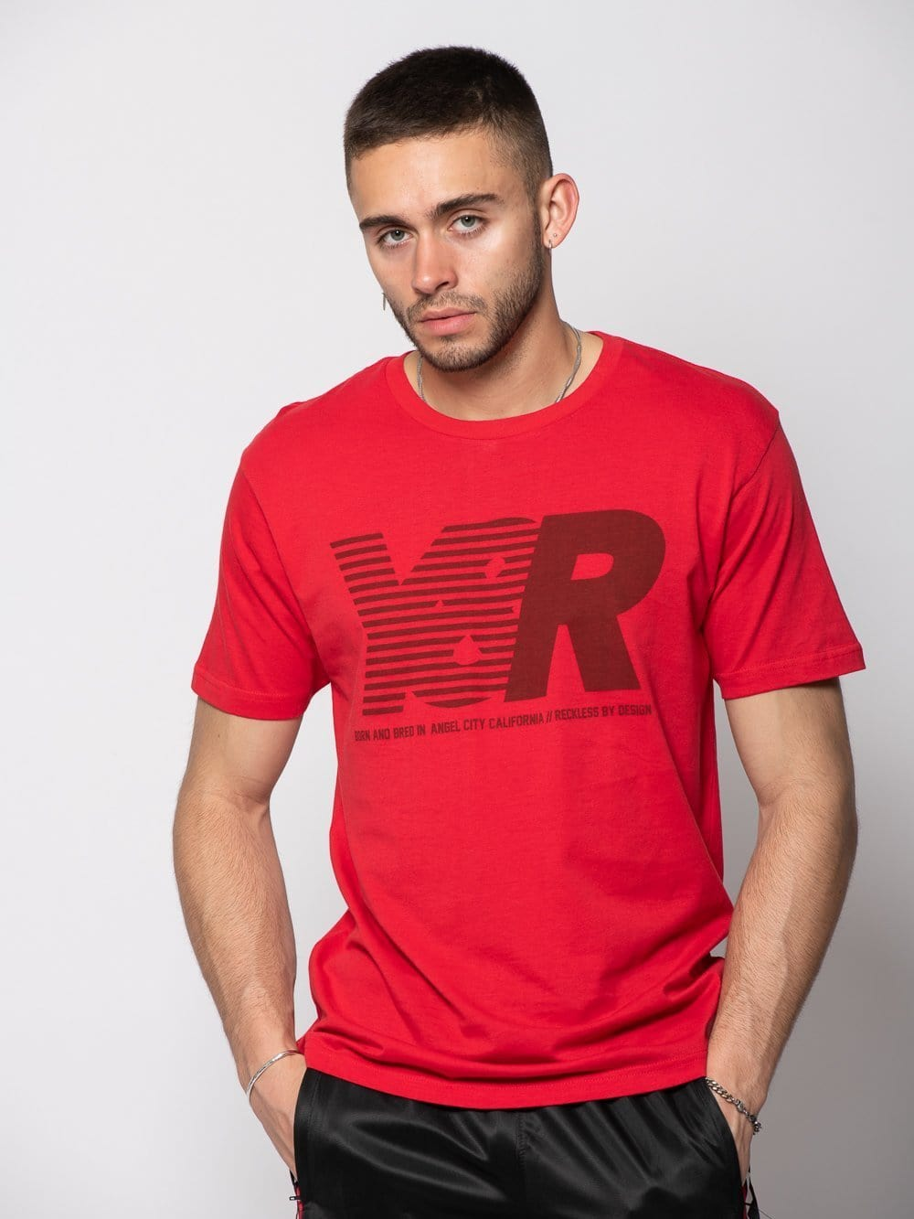 Young and Reckless Mens - Tees - Graphic Tee Sprinter Tee - Red S / RED