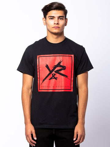 Square Logo Tee - Black/Red