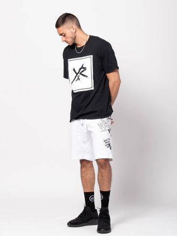 Square Logo Tee - Black/White