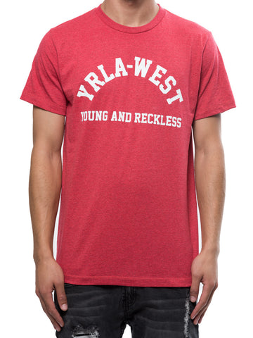 Young and Reckless Mens - Tees - Graphic Tee Stadium Tee - Red