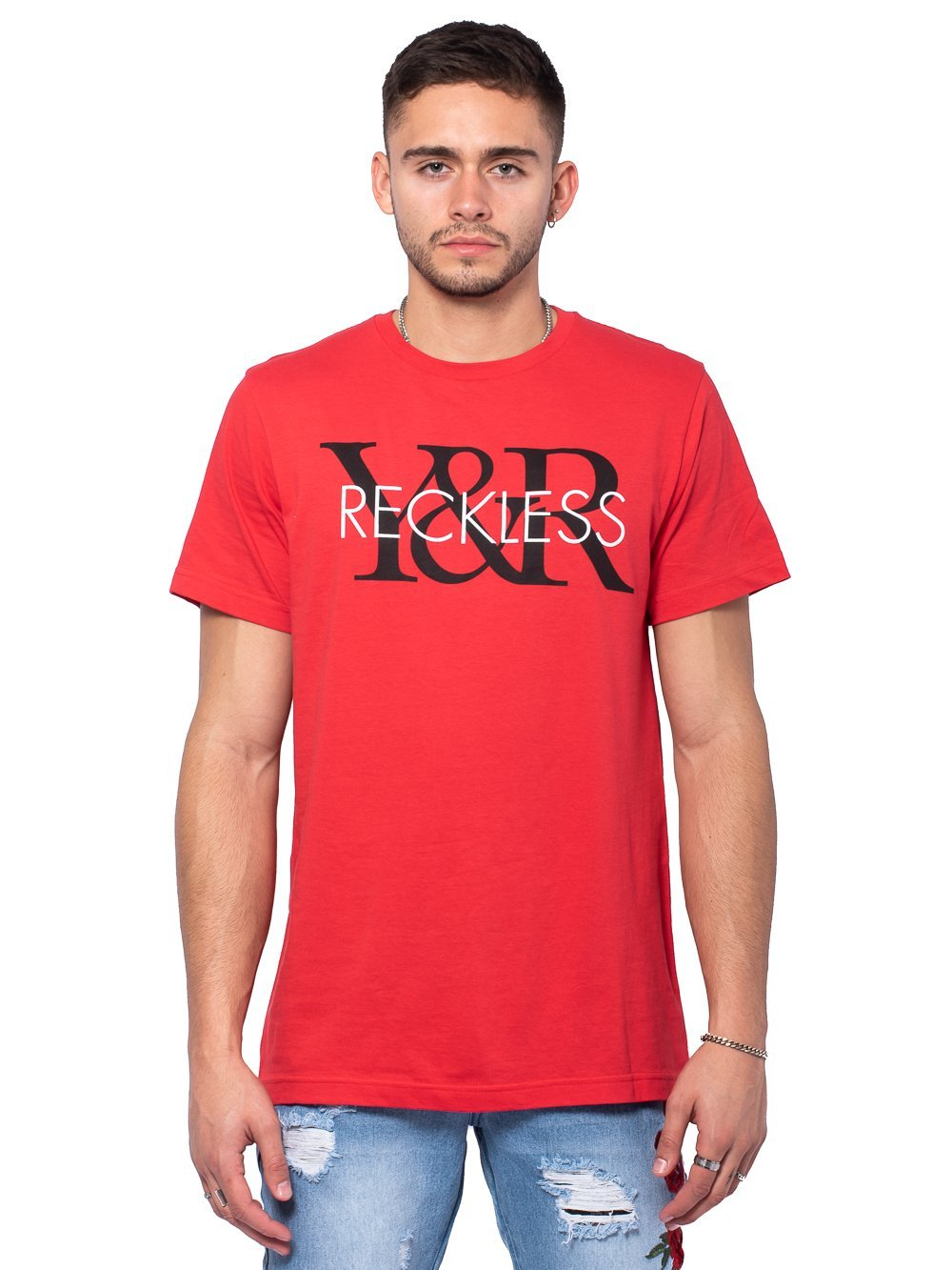 Young and Reckless Mens - Tees - Graphic Tee Staple Tee - Red