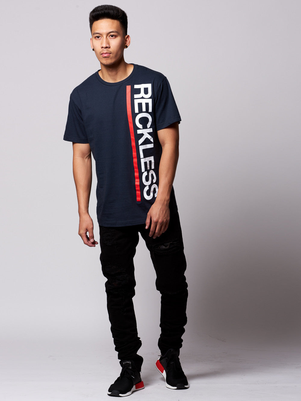 Young and Reckless Mens - Tees - Graphic Tee Starboard Tee- Navy