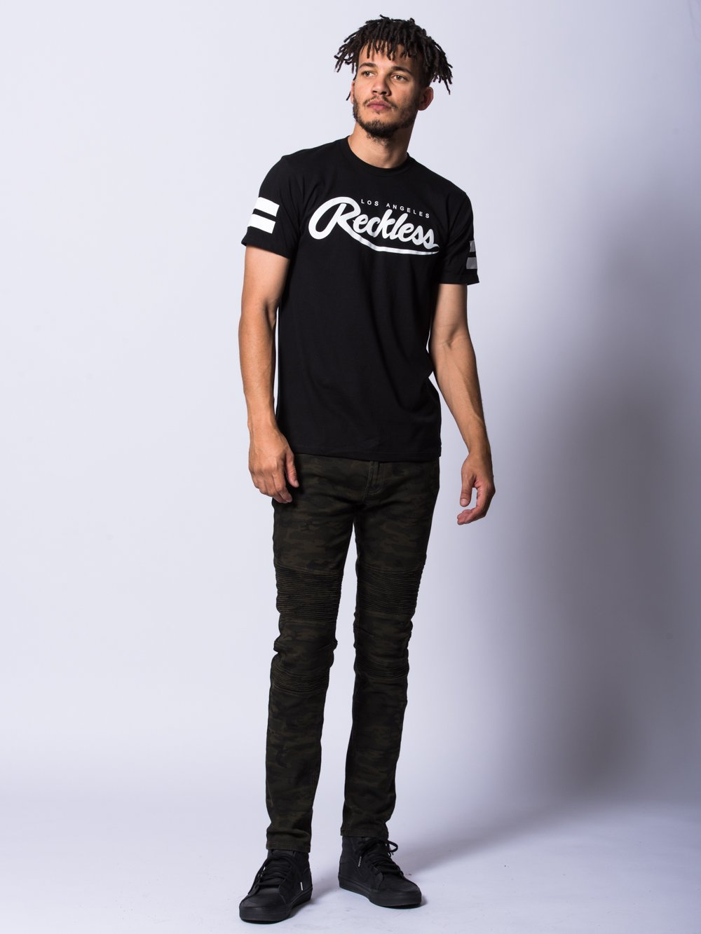 Young and Reckless Mens - Tees - Graphic Tee Starting Block Tee- Black