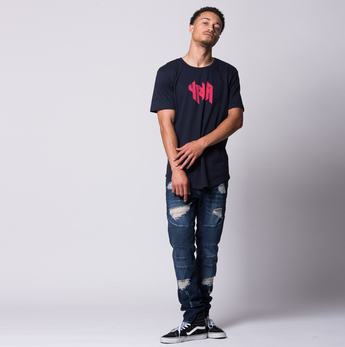 Young and Reckless Mens - Tees - Graphic Tee Storm Tee- Navy