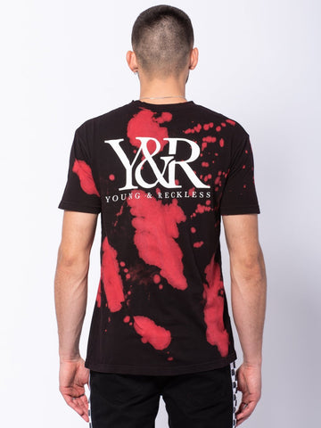 Straight Up Tee - Black/Bleach