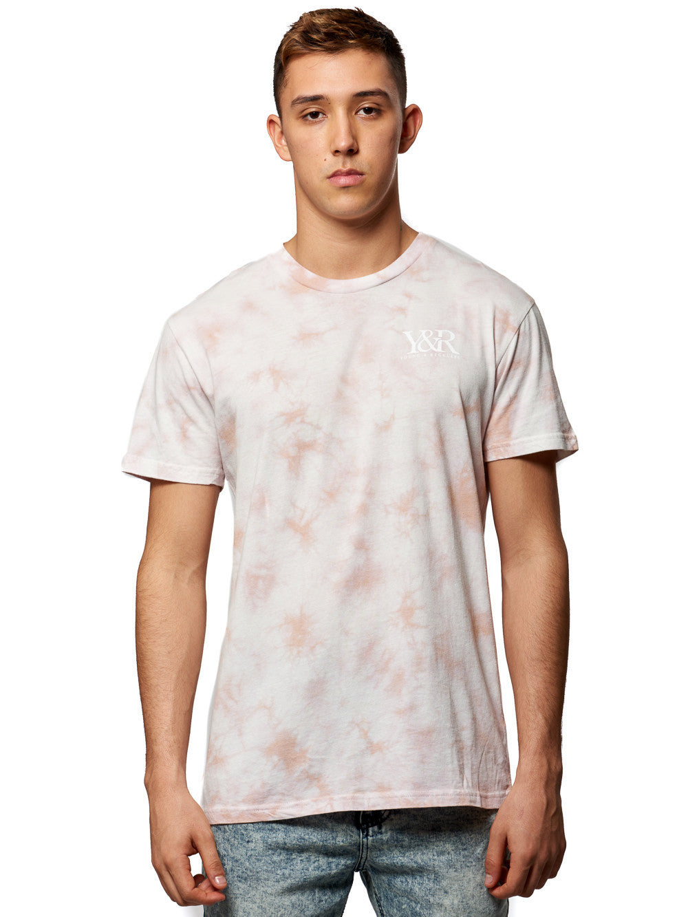 Young and Reckless Mens - Tees - Graphic Tee Straight Up Tee- Crush Pink