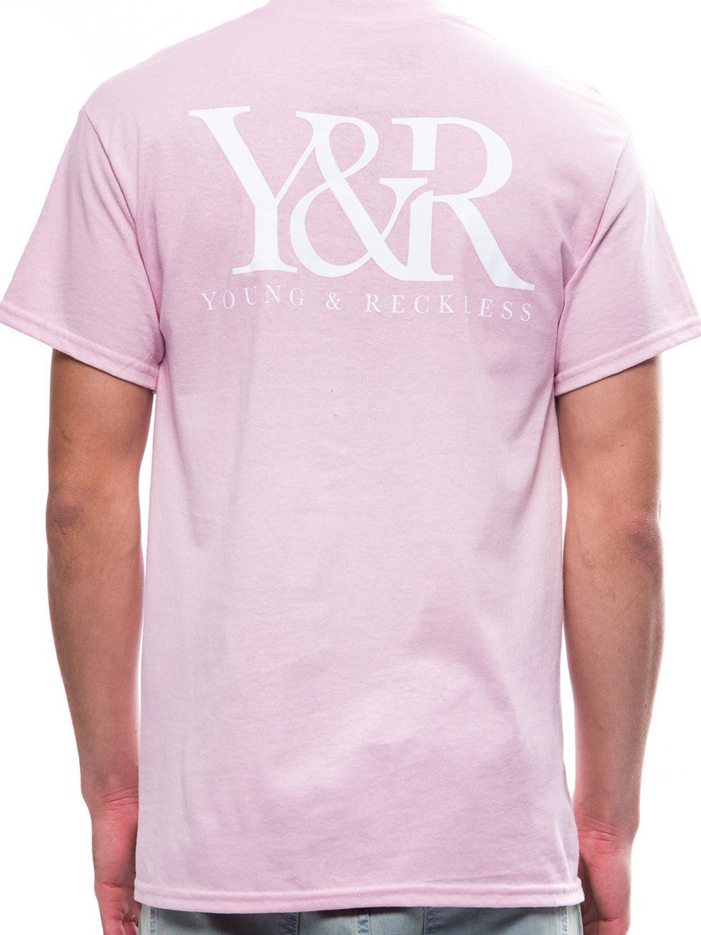 Young and Reckless Mens - Tees - Graphic Tee Straight Up Tee- Pink