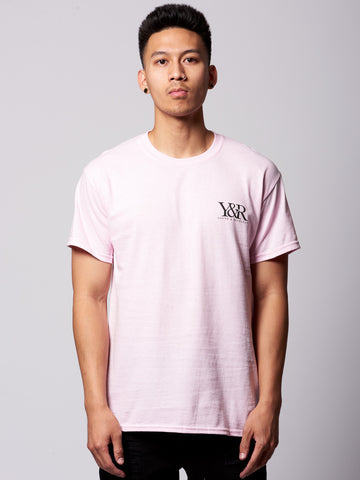 Young and Reckless Mens - Tees - Graphic Tee Straight Up Tee- Pink/Black