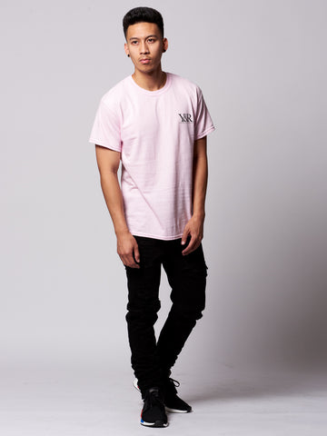 Straight Up Tee- Pink/Black