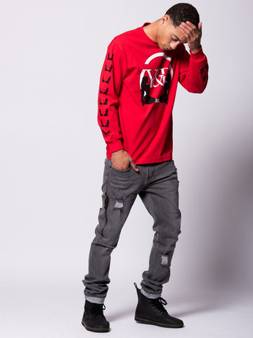 Striker Long Sleeve Tee- Red