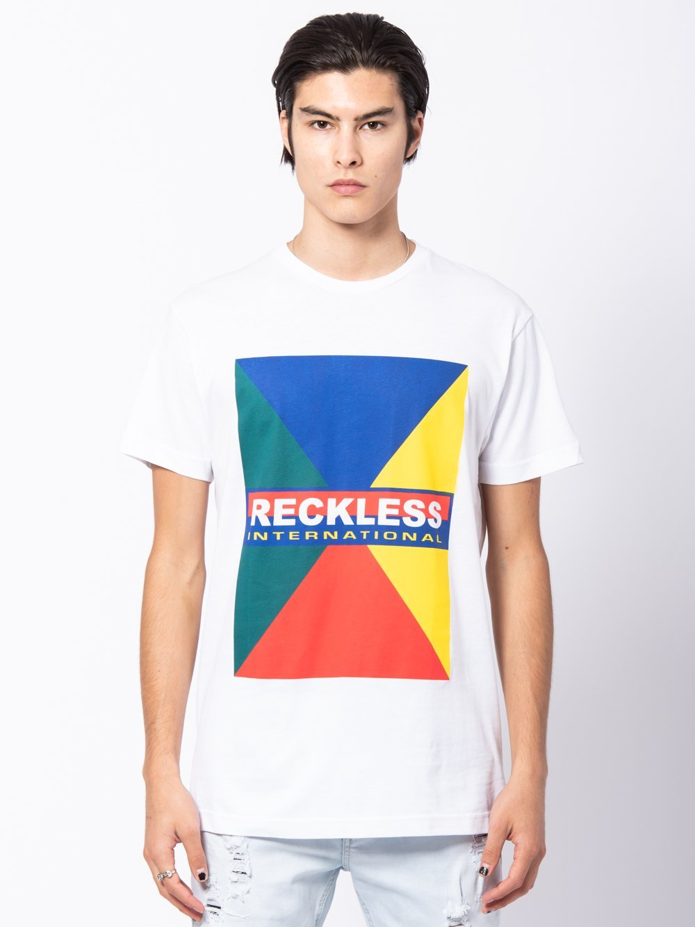 Young and Reckless Mens - Tees - Graphic Tee Subdivision Tee - White