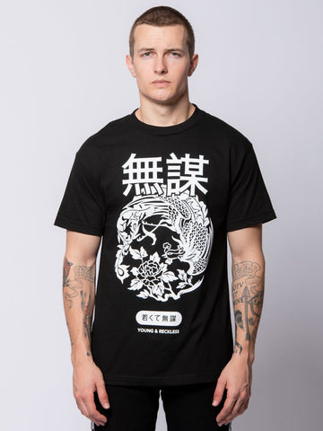 Young and Reckless Mens - Tees - Graphic Tee Suki Tee - Black S / BLACK