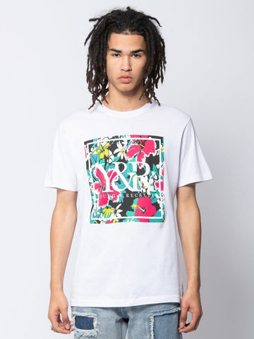 Young and Reckless Mens - Tees - Graphic Tee Tahiti Mark Tee - White S / WHITE