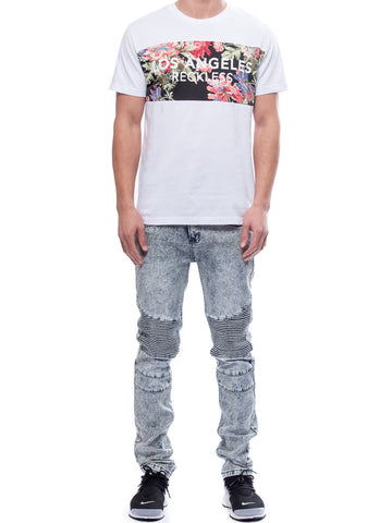 Young and Reckless Mens - Tees - Graphic Tee Temperate Tee- White