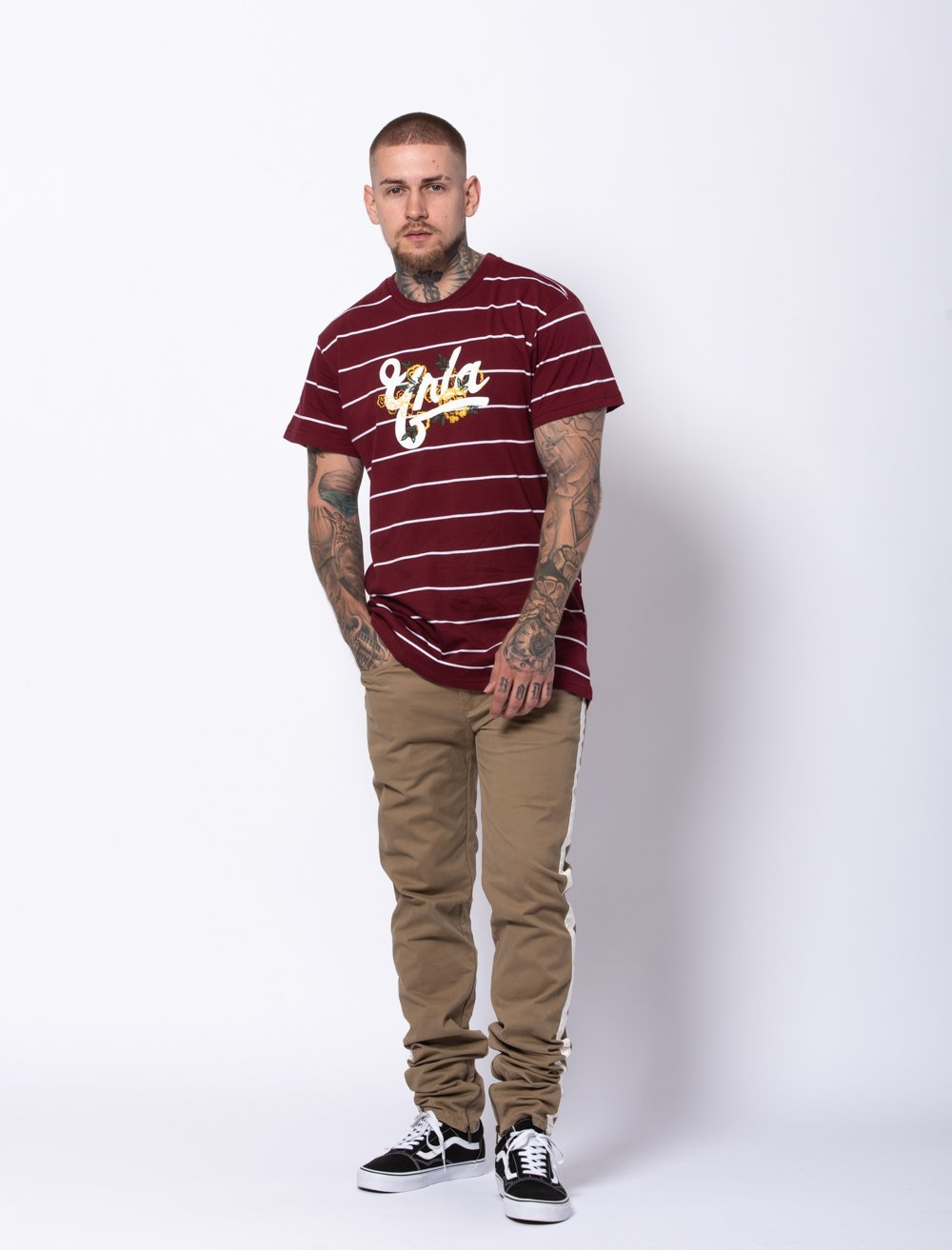 Young and Reckless Mens - Tees - Graphic Tee Terrace Tee - Burgundy