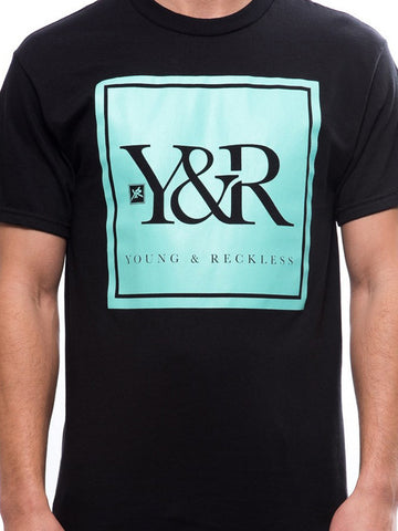 Trademark Box Tee- Black/Mint