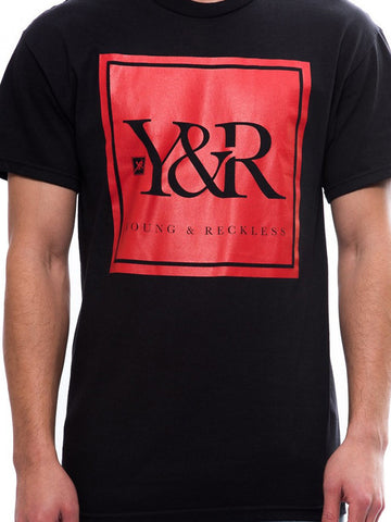 Trademark Box Tee- Black/Red
