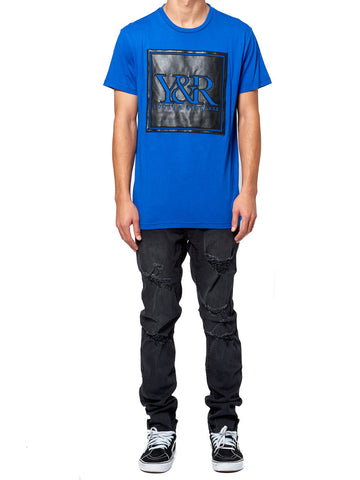 Young and Reckless Mens - Tees - Graphic Tee Trademark Perf Tee - Royal Blue