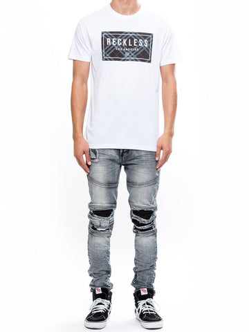 Young and Reckless Mens - Tees - Graphic Tee Tradition Tee - White