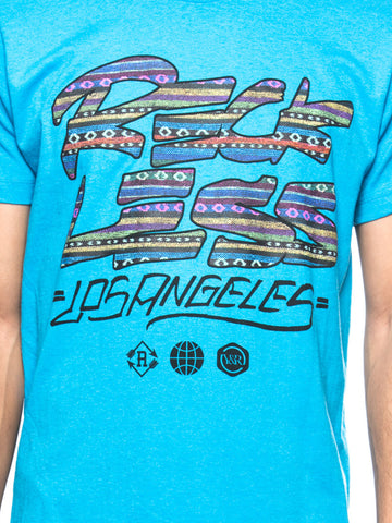 Traditional Scrawl Tee- Blue