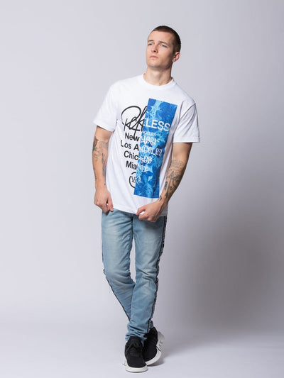 Young and Reckless Mens - Tees - Graphic Tee Transplant Tee - White S / WHITE