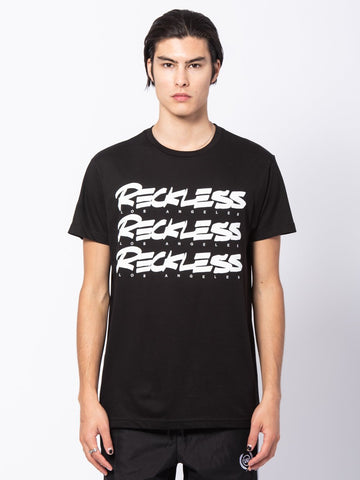 Young and Reckless Mens - Tees - Graphic Tee Triple Scrawl Tee - Black