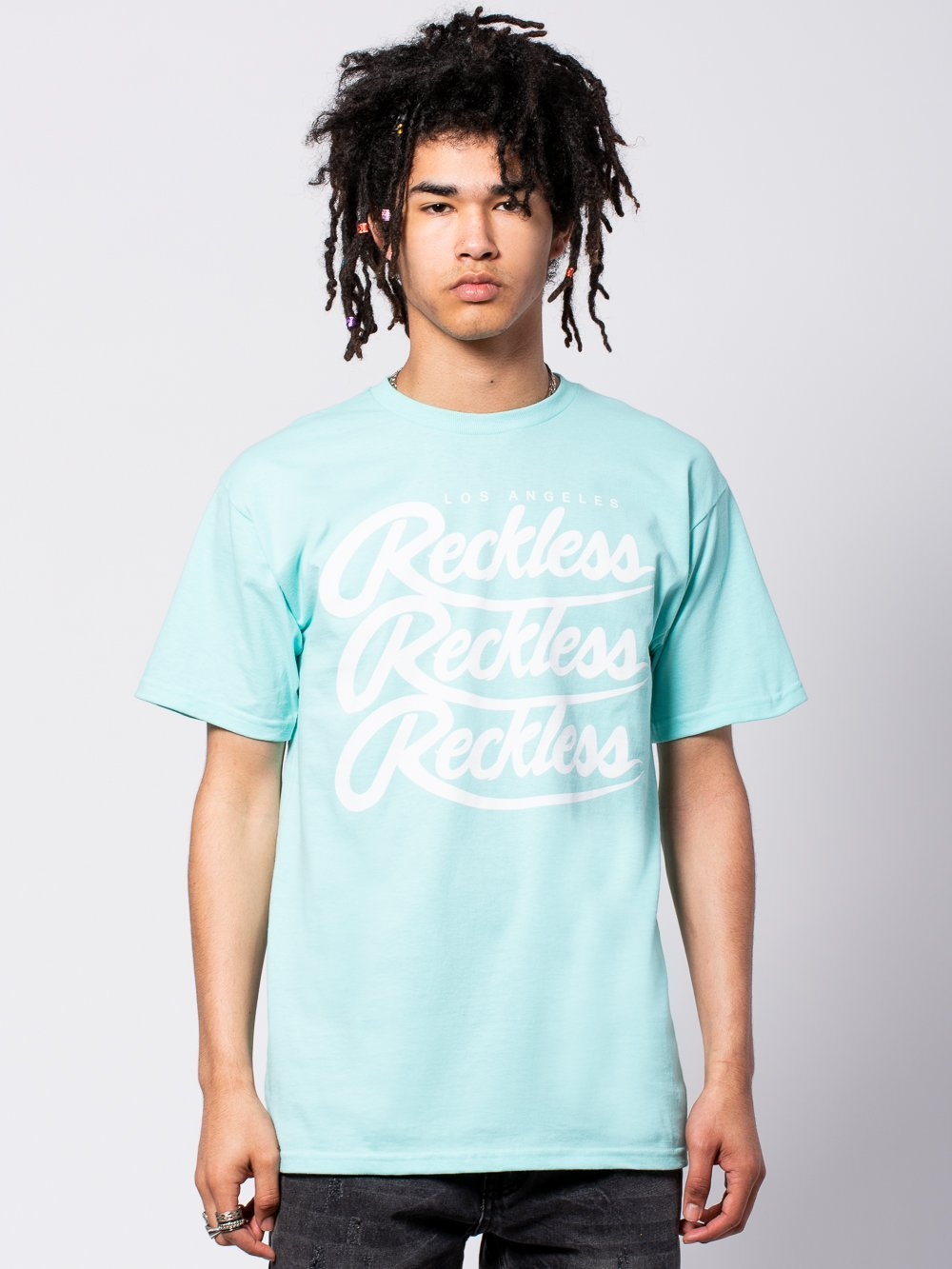 Young and Reckless Mens - Tees - Graphic Tee Triplex Tee - Celadon Green