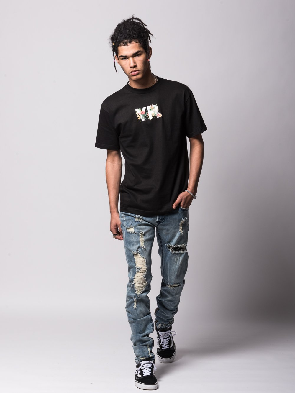 f845b81a0 Young and Reckless Mens - Tees - Graphic Tee Tropic Passion Tee - Black
