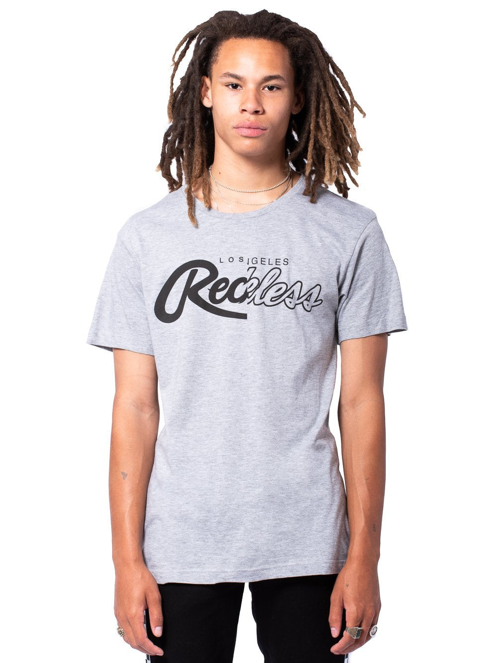Young and Reckless Mens - Tees - Graphic Tee Unified Tee - Heather Grey