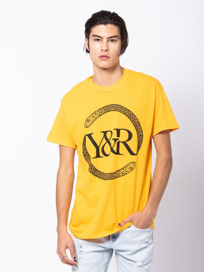 Young and Reckless Mens - Tees - Graphic Tee Vipers Tee - Gold/Yellow