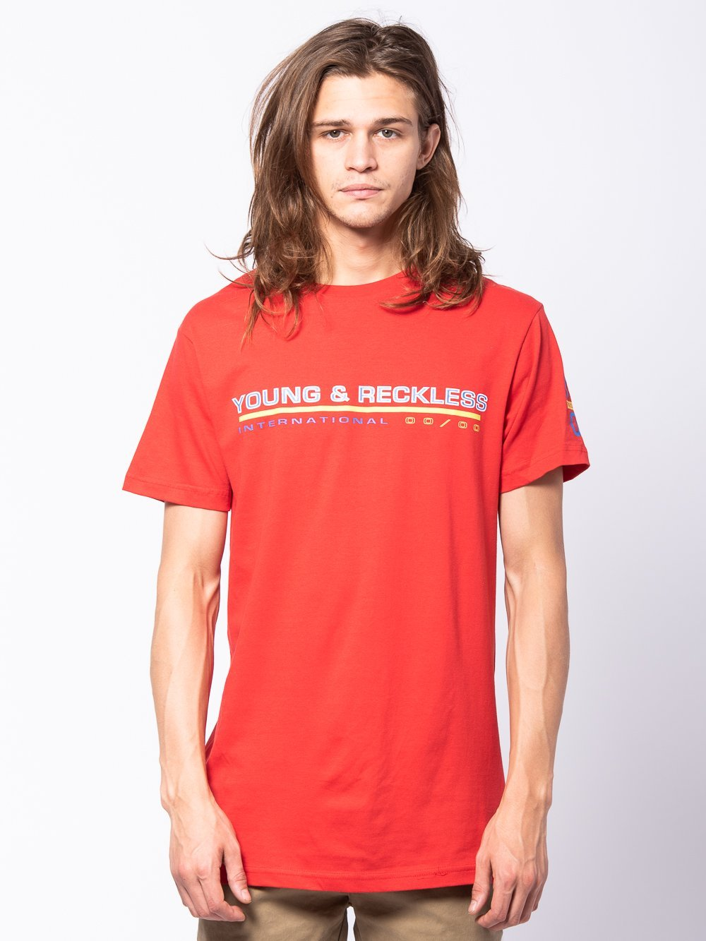 Young and Reckless Mens - Tees - Graphic Tee Voyager Tee - Red