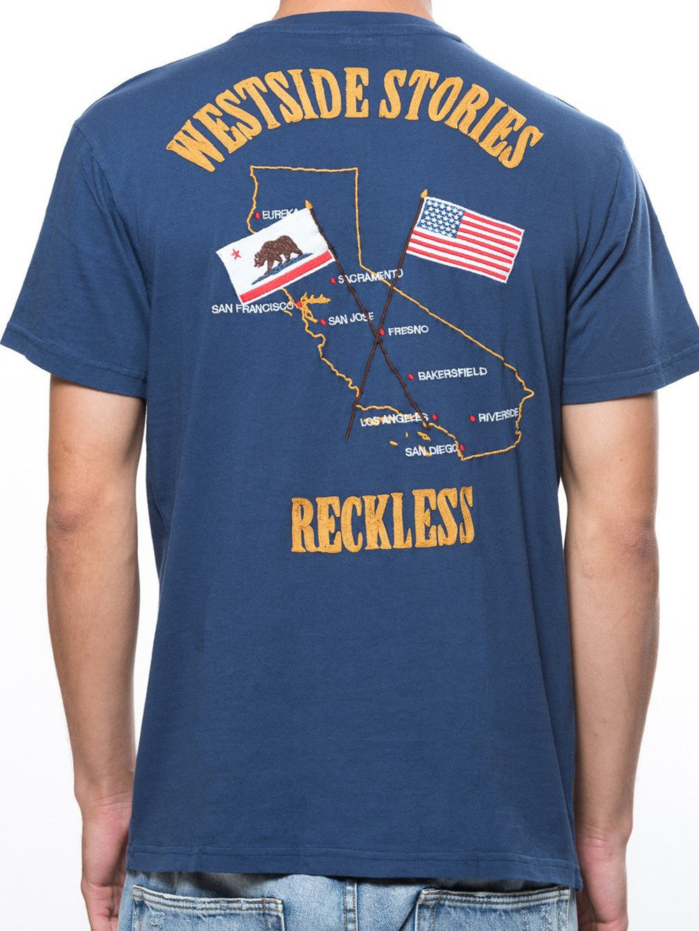 Young and Reckless Mens - Tees - Graphic Tee Westside Stories Tee - Blue