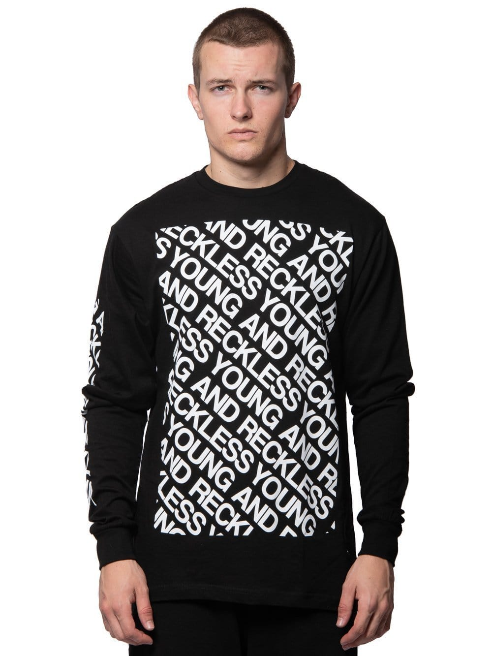 Young and Reckless Mens - Tees - Long Sleeve Alias Long Sleeve Tee - Black S / BLACK