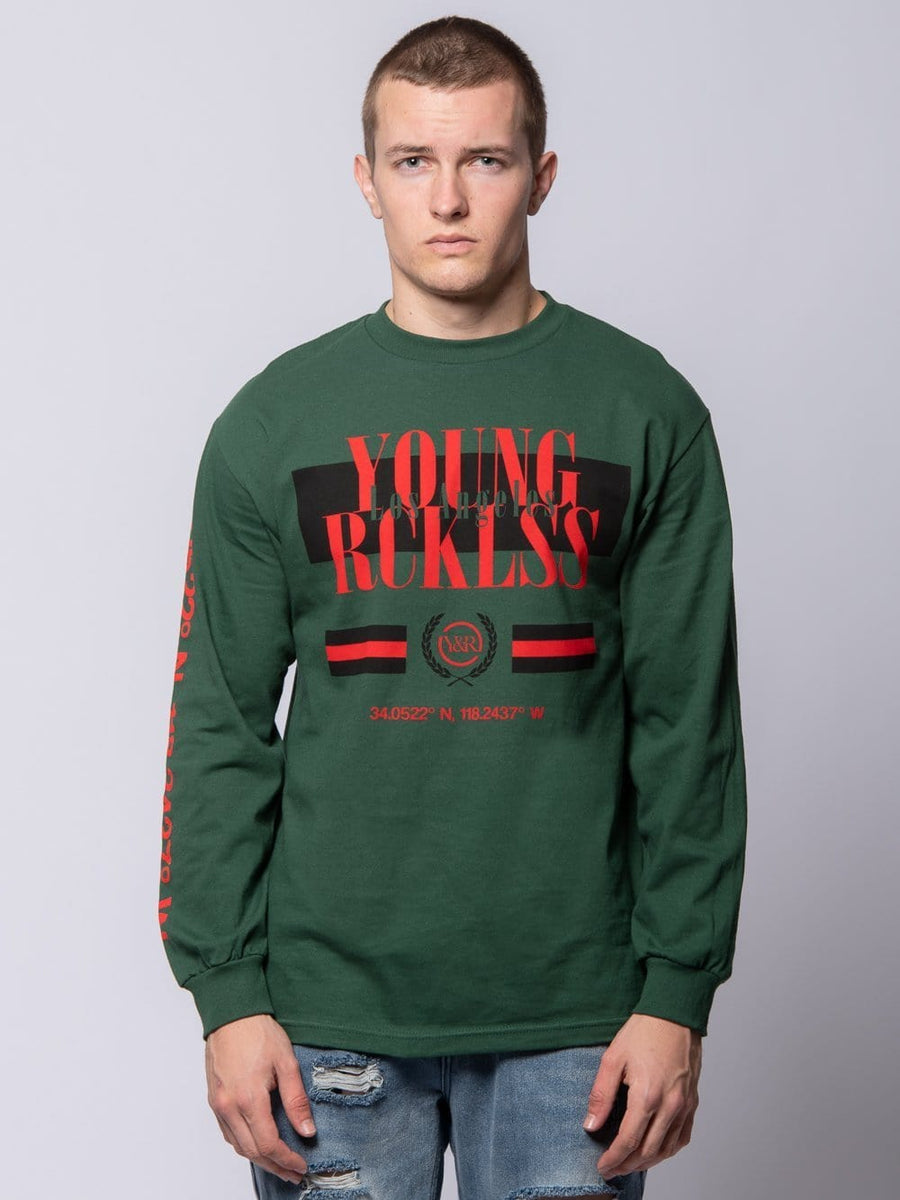 Angler Long Sleeve Tee - Forest Green