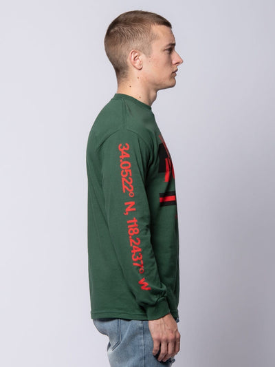 Young and Reckless Mens - Tees - Long Sleeve Angler Long Sleeve Tee - Forest Green S / FOREST GREEN