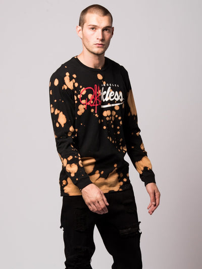 Young and Reckless Mens - Tees - Long Sleeve Cleft Long Sleeve- Bleach