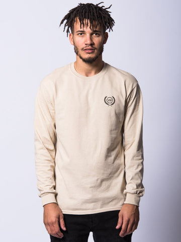 Young and Reckless Mens - Tees - Long Sleeve Crest Long Sleeve- Sand