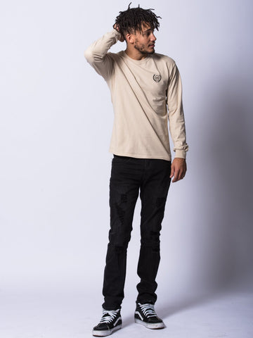 Crest Long Sleeve- Sand