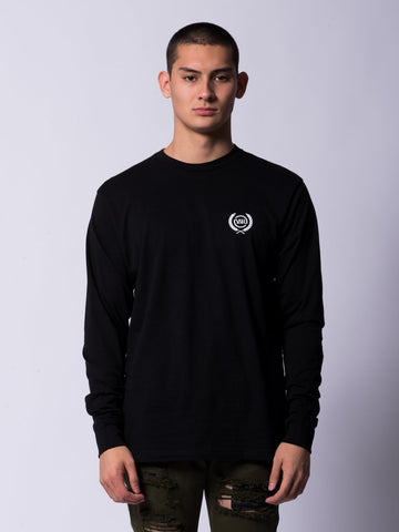 Young and Reckless Mens - Tees - Long Sleeve Crest Long Sleeve Tee- Black