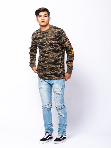 Crossfade Long Sleeve - Camo Green